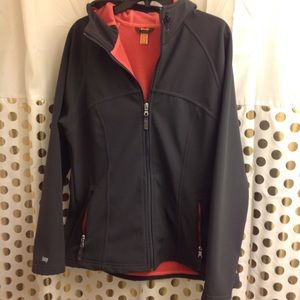 Lucy Rain Jacket Coat Shell windbreaker Hooded XL